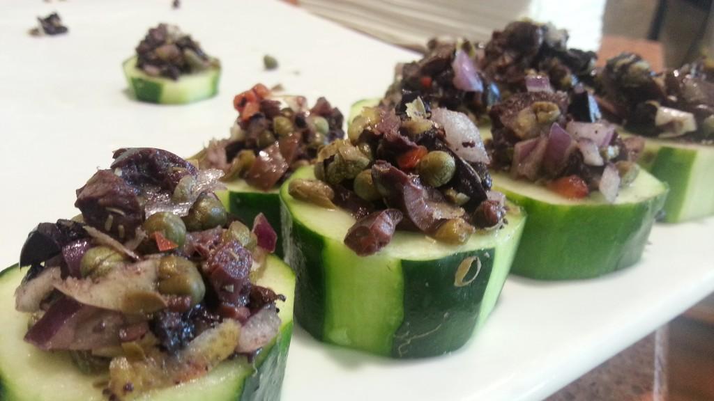 cucumber olive tapenade