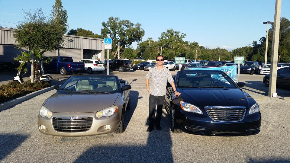 Chrysler 200 (car on right) and my old Sebring (left)